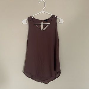 Plum tank with cute back detail